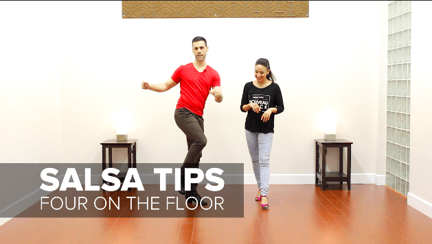 Salsa dance tip - stay grounded in your basic step