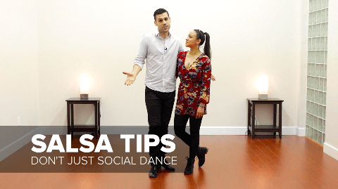 Salsa dancing tip - don't learn salsa by social dancing