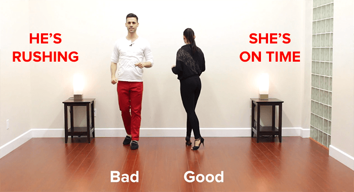 salsa turn technique good vs bad