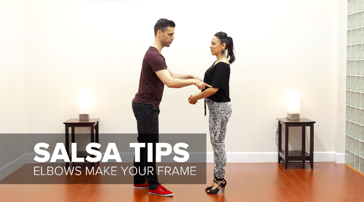 Improve your frame and connection for salsa dancing with elbow position