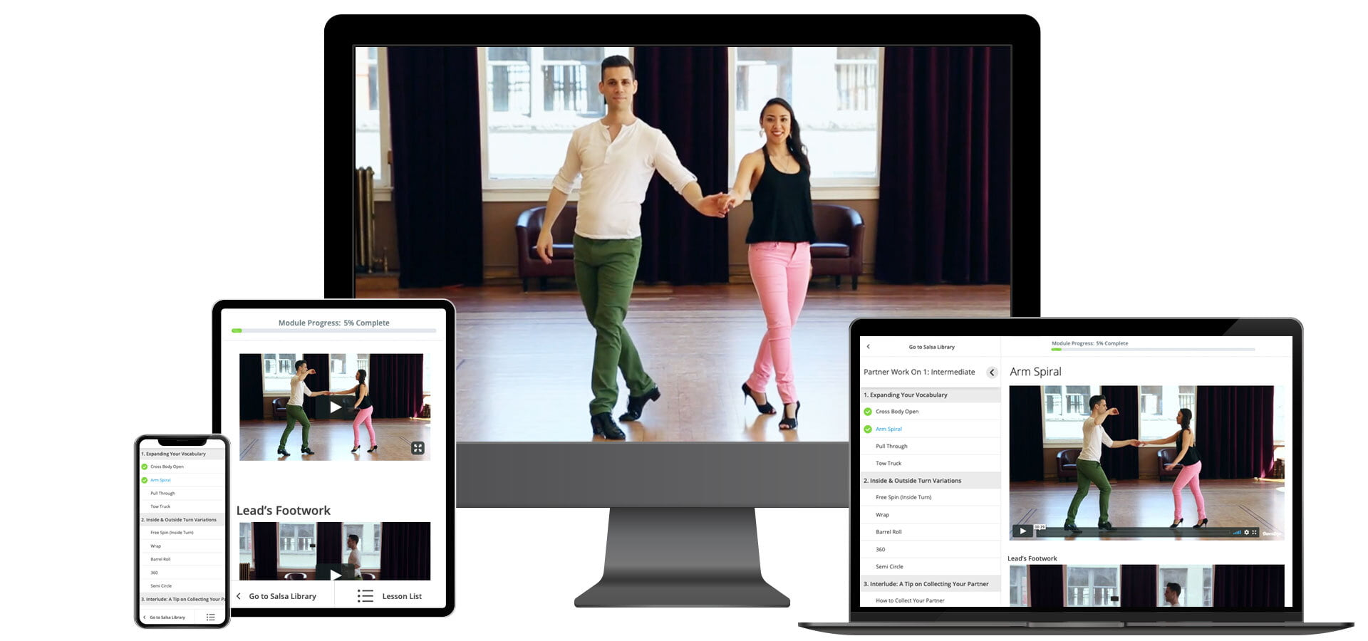 Practice Salsa Dancing on any Device Dance Dojo