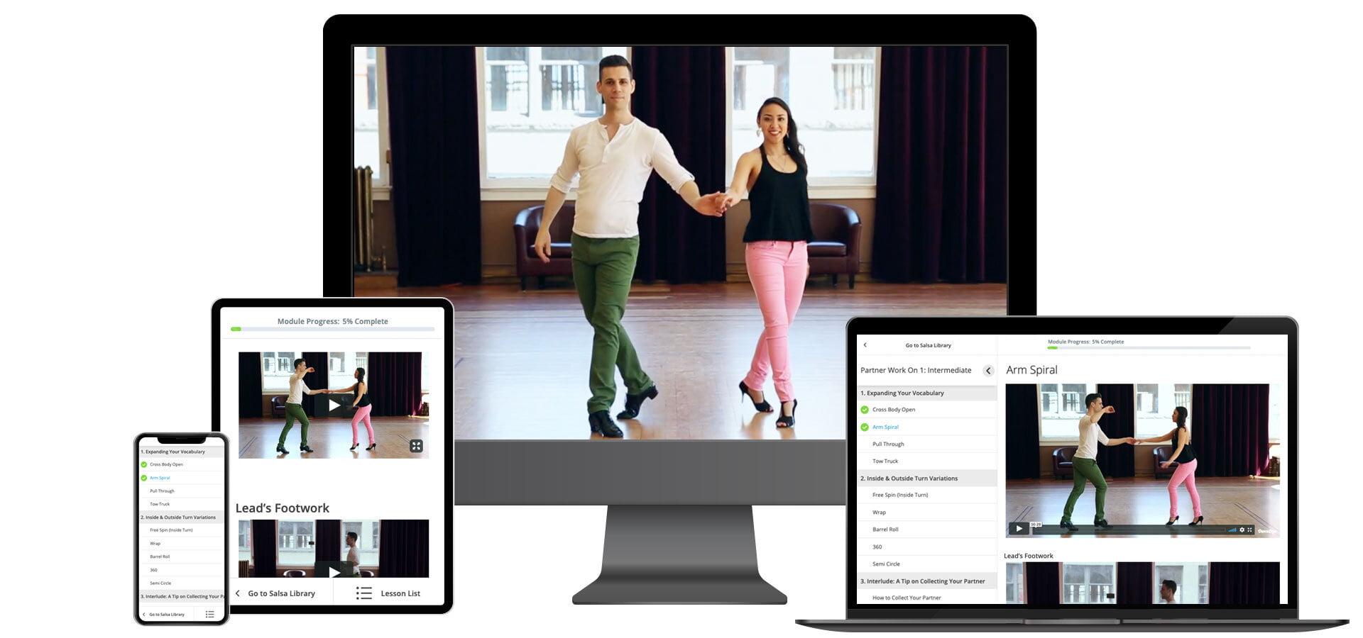 Practice Salsa Dancing on any Device Dance Dojo